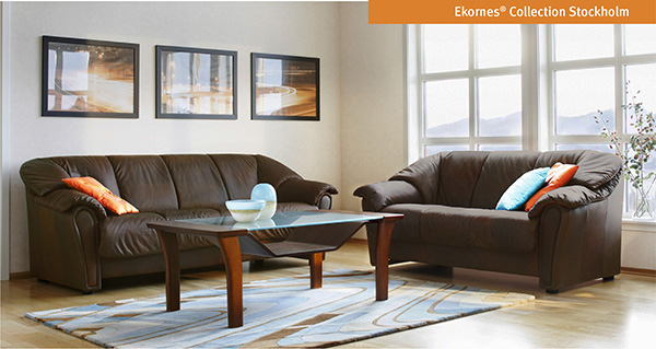 Ekornes Stockholm Sofa and Loveseat by Stressless