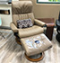 Stressless Dream Recliner and Ottoman - Oasis White Fabric