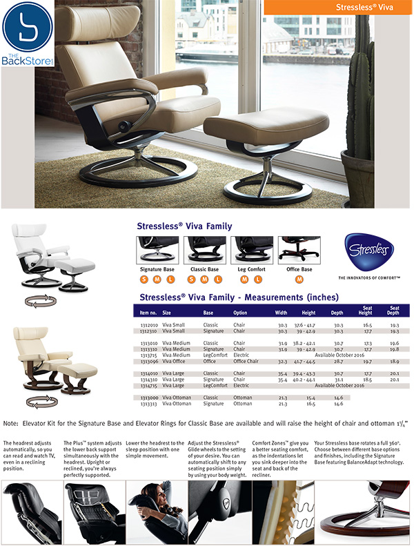 Stressless Viva Recliner Chair and Ottoman by Ekornes