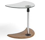 Stressless Alpha Adjustable Glass Top Wood Table
