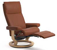 Stressless Aura Recliner Chair - LegComfort Wood Base