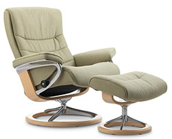 Stressless Nordic Signature Base Recliner Chair and Ottoman