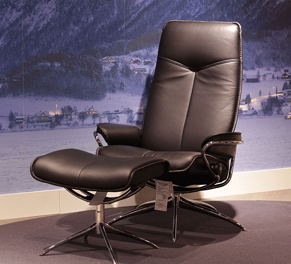 Stressless Paloma Black 09419 Leather by Ekornes