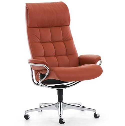 Stressless London High Back Office Desk Recliner Chair by Ekornes