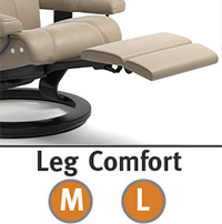 Stressless View Power LegComfort Power Extending Footrest with Wood Base