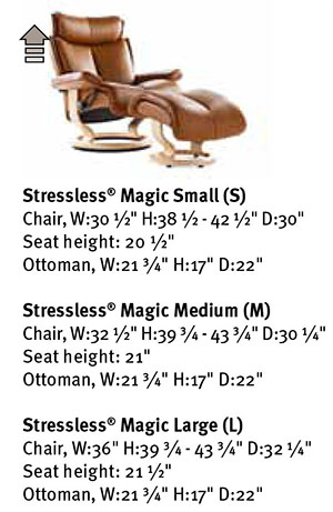 Stressless Magic Recliner Chair Dimensions