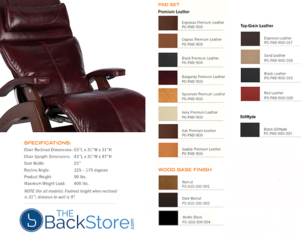 PC-610 Omni-Motion Power Perfect Chair Colors by Human Touch