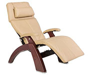 Sand Leather with Chestnut Wood Base Series 2 Classic Human Touch PC-420 PC-600 PC-610 Perfect Chair Recliner by Human Touch