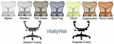 Herman Miller Mirra Colors