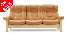 Stressless Buckingham High Back Sofa, LoveSeat, Chair and Sectional by Ekornes