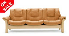 Stressless Buckingham Low Back Sofa, LoveSeat, Chair and Sectional by Ekornes