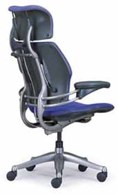 Blue HumanScale Freedom Task Home Office Desk Chair
