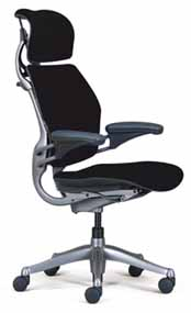 Black HumanScale Freedom Task Home Office Desk Chair