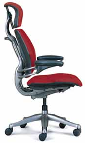 Red HumanScale Freedom Task Home Office Desk Chair