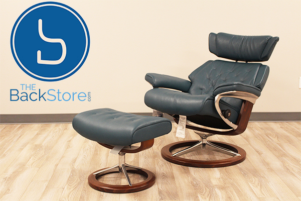 Stressless Cori Petrol Skyline Leather Recliner Chair by Ekornes