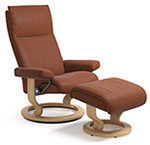 Stressless Aura Recliner Chair and Ottoman