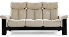 Stressless Wizard High Back Sofa, LoveSeat, Chair and Sectional by Ekornes