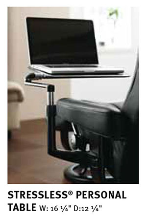 Stressless Recliner Chair Personal Computer Desk Table