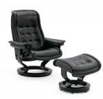 Stressless Royal Large Recliner Chairs and Ottoman